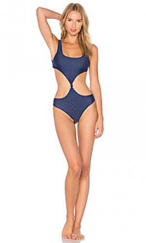 Слитный купальник из сетчатой ткани colombia Acacia Swimwear. Цвет: синий