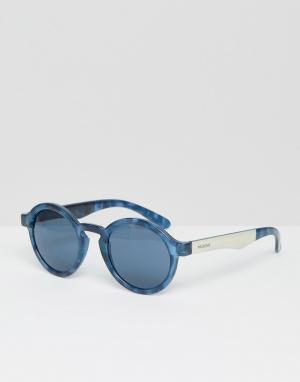 Mr Boho Синие круглые солнцезащитные очки Mr. Dalston. Цвет: синий