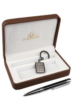 Набор: ручка, брелок Gilford. Цвет: черный