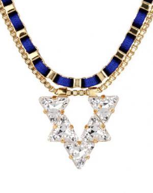Ожерелье JOHN & PEARL. Цвет: ярко-синий