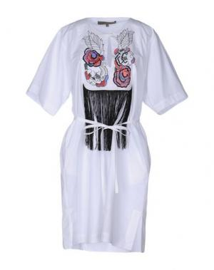 Короткое платье SPACE STYLE CONCEPT. Цвет: белый