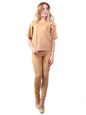 Костюм брюки и кофта Glam Goddess. Цвет: светло-оранжевый