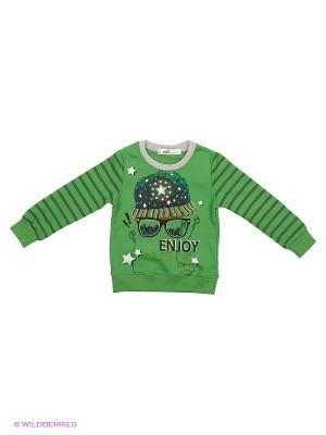 Свитшот Sago Kids i Ant Domain. Цвет: зеленый, серый
