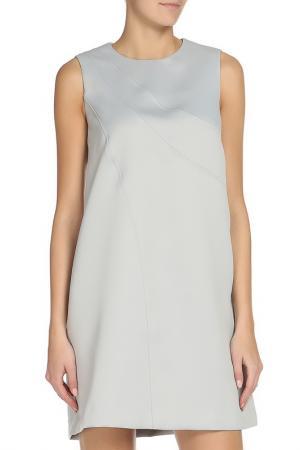 Полуприлегающее платье с потайной молнией Cyrille Gassiline. Цвет: светло-серый