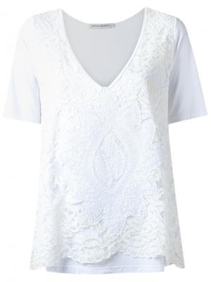 Lace top Martha Medeiros. Цвет: белый