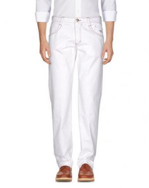 Повседневные брюки CARLO CHIONNA. Цвет: белый