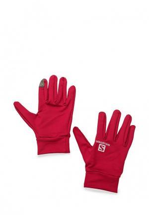 Перчатки Salomon. Цвет: бордовый