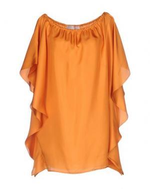 Блузка NORMALUISA. Цвет: оранжевый