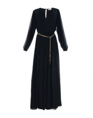 Длинное платье MICHAEL KORS. Цвет: темно-синий