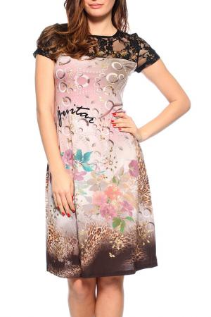 Платье GUITAR. Цвет: мультицвет
