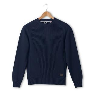 Пуловер крупной вязки SCHOTT. Цвет: синий морской,черный
