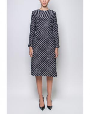Платье с принтом Poustovit. Цвет: черный, белый