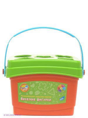 Развивающая игрушка-сортер Веселые фигурки MOMMY LOVE. Цвет: оранжевый