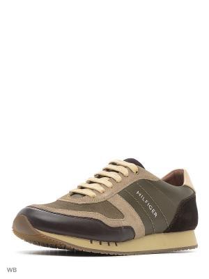 Кроссовки Tommy Hilfiger. Цвет: коричневый