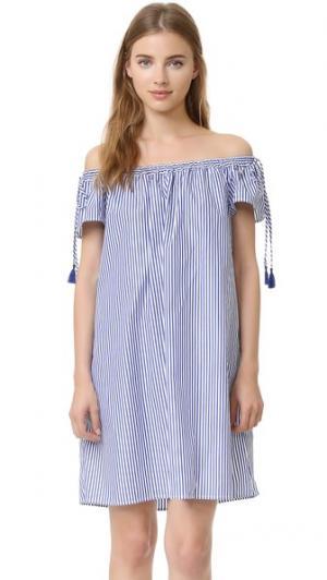 Платье в полоску Poppy Elle Sasson. Цвет: темно-синяя полоска