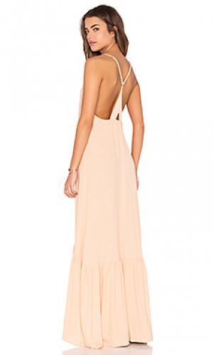Макси платье topanga FLYNN SKYE. Цвет: персиковый