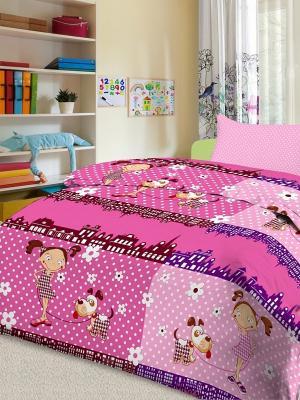 КПБ детский Letto Девочка, нав-ка 50х70, 100% хлопок. Цвет: розовый