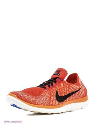 Кроссовки Nike. Цвет: красный, белый, черный, синий