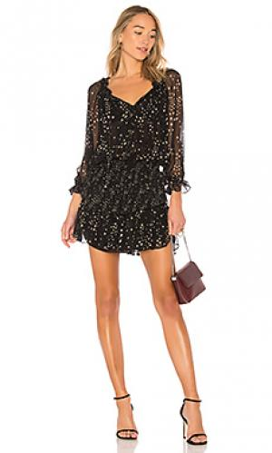 Легкое платье без застежки night sky LoveShackFancy. Цвет: черный
