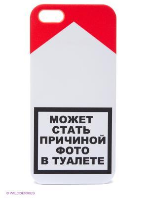 Чехол для IPhone 5 Может стать причиной.. Mitya Veselkov. Цвет: белый, черный, красный