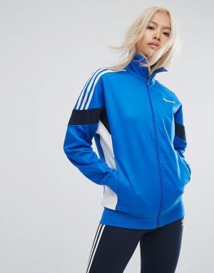 Adidas Originals Спортивная куртка Clr84. Цвет: синий