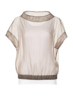 Блузка Peserico. Цвет: бежевый