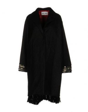 Пальто BRAND UNIQUE. Цвет: черный