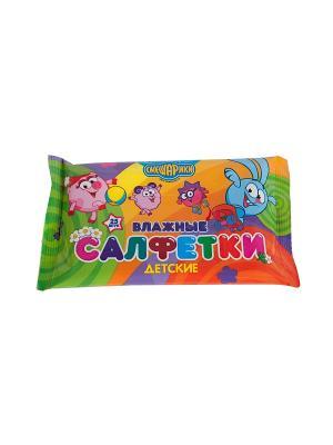 Влажные гигиенические детские салфетки Смешарики  25 шт.. Цвет: прозрачный