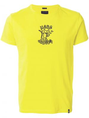 Футболка с принтом-логотипом Marc Jacobs. Цвет: жёлтый и оранжевый