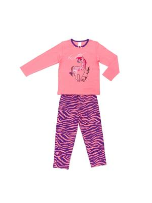 Пижама Модамини. Цвет: коралловый, синий