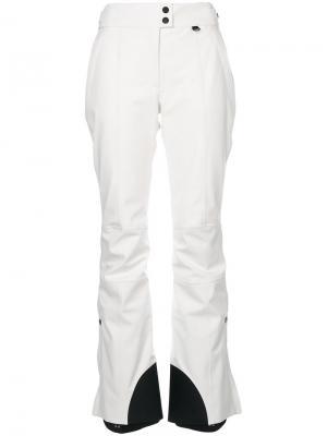 Прямые брюки Moncler Grenoble. Цвет: белый