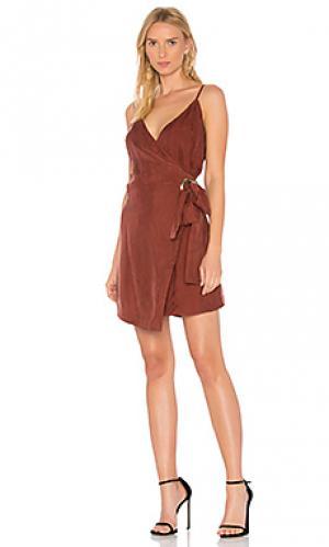 Платье с запахом rue Line & Dot. Цвет: ржавый