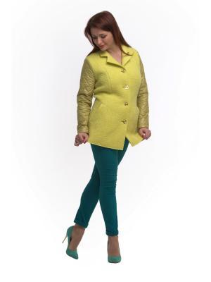 Пальто OTTIMO. Цвет: желтый