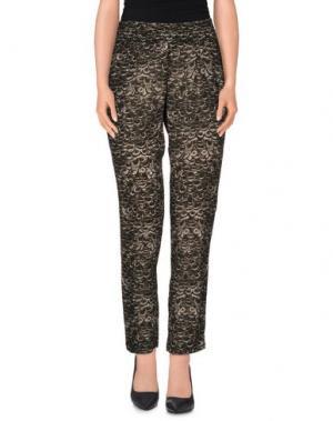 Повседневные брюки SWILDENS. Цвет: темно-зеленый