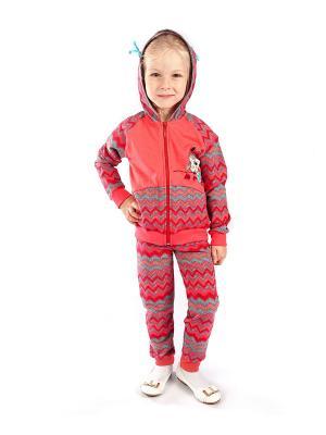 Комплект одежды Апрель. Цвет: коралловый, бирюзовый, красный