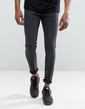 Just Junkies Серые выбеленные джинсы скинни. Цвет: серый