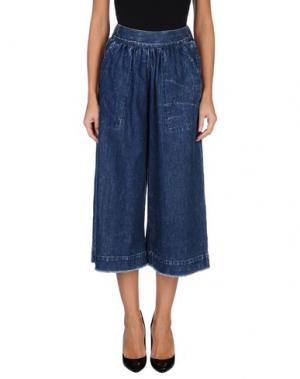 Джинсовые брюки-капри SEA. Цвет: синий