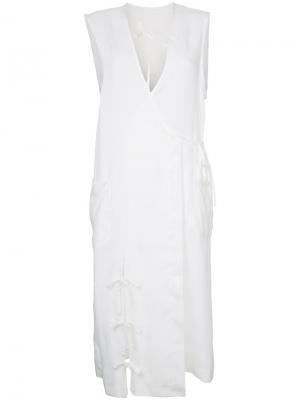Классическое платье-рубашка Facetasm. Цвет: белый