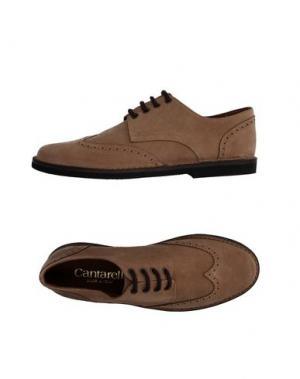 Обувь на шнурках CANTARELLI. Цвет: песочный