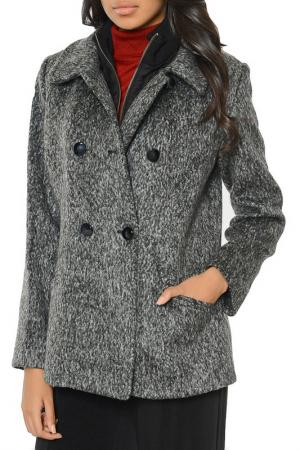 Пальто Dewberry. Цвет: black, grey