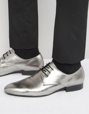 Dune Туфли оловянного цвета со шнуровкой. Цвет: черный