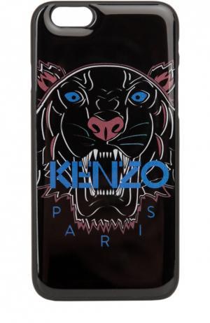 Чехол для iPhone 6 с принтом тигр Kenzo. Цвет: черный