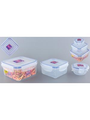 Набор 3-х контейнеров XEONIC CO LTD. Цвет: прозрачный, синий