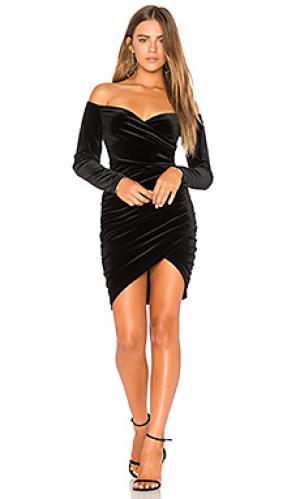 Платье с запахом alex Bardot. Цвет: черный