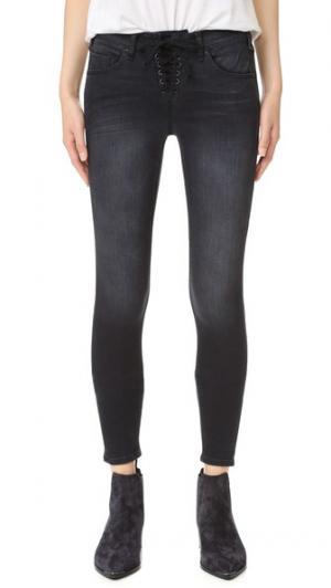 Узкие джинсы на шнуровке Shore Leave McGuire Denim. Цвет: черный ballerina