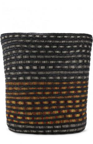 Сумка пляжная из текстиля и соломки Missoni. Цвет: черный