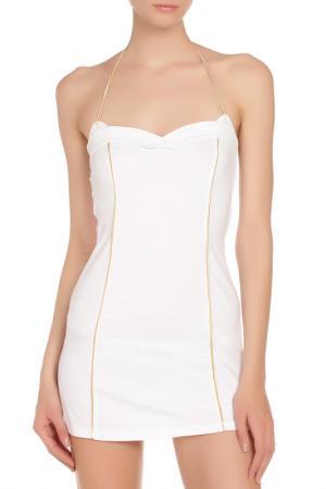 Прилегающее платье-мини Frankie Morello. Цвет: white