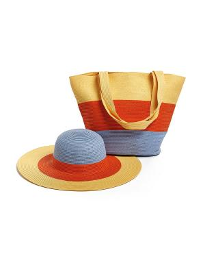 Комплект (сумка, шляпа) Moltini. Цвет: оранжевый