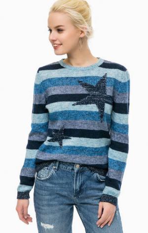 Трикотажный свитер в полоску MORE &. Цвет: синий