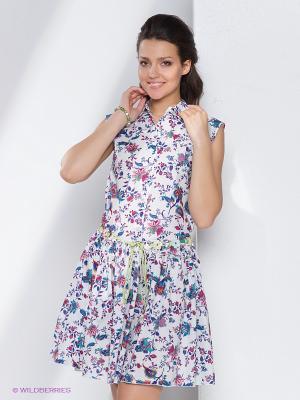 Платье Fuzer. Цвет: белый, бордовый, фиолетовый, красный